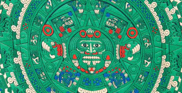 Aztec Calendar Rug