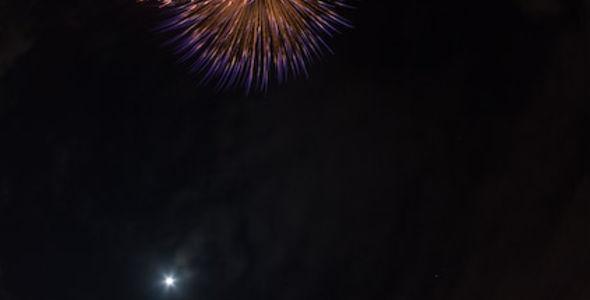 Fisheye night sky