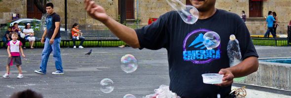 Soap Bubble Man