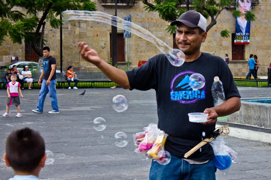 Soap Bubble Man