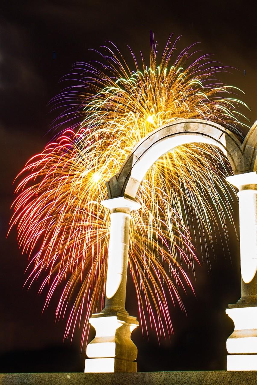 Los arcos fireworks