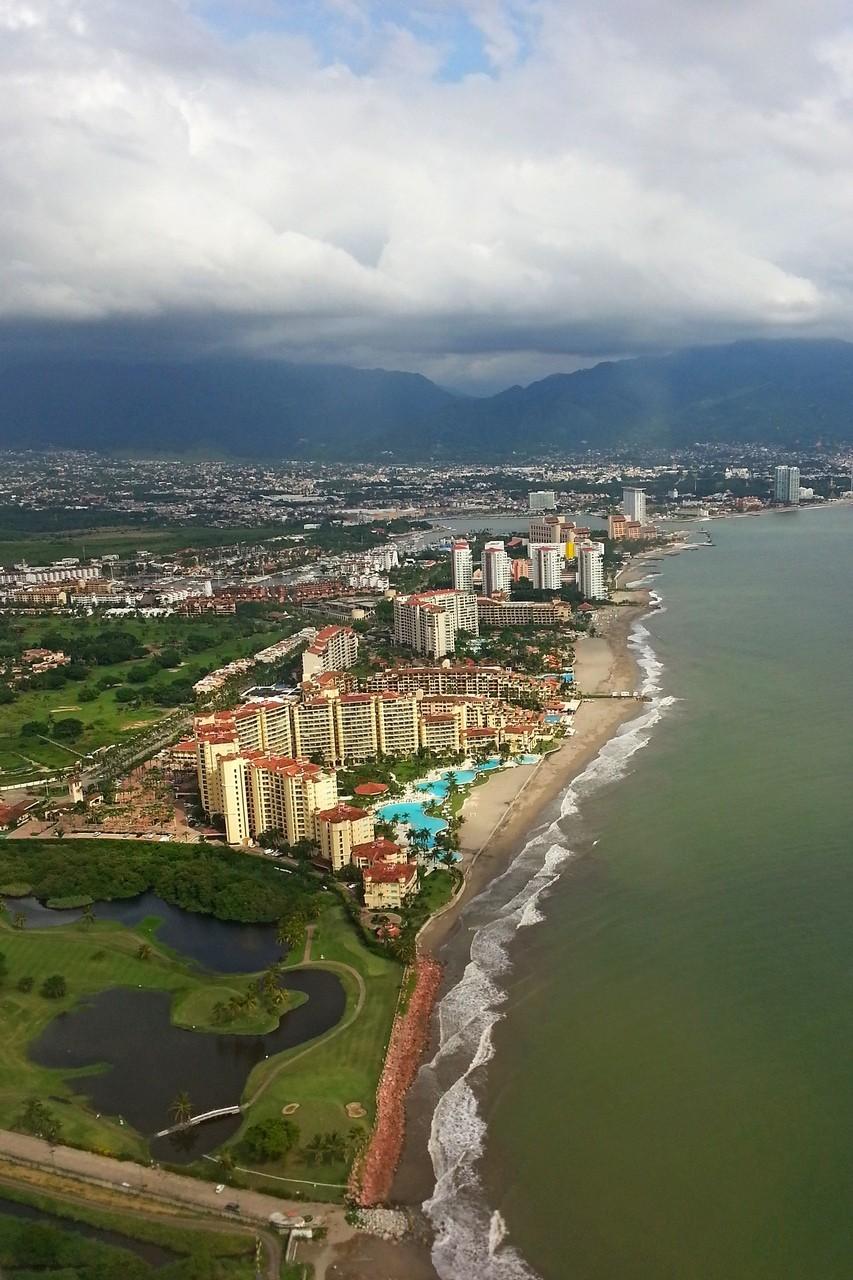 Puerto Vallarta from the airplane