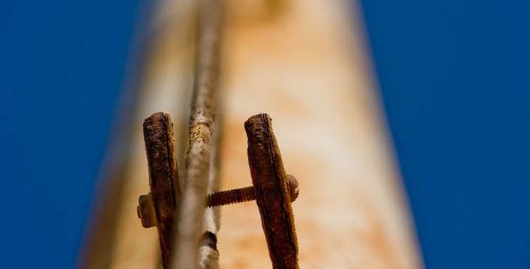 Rusted pole