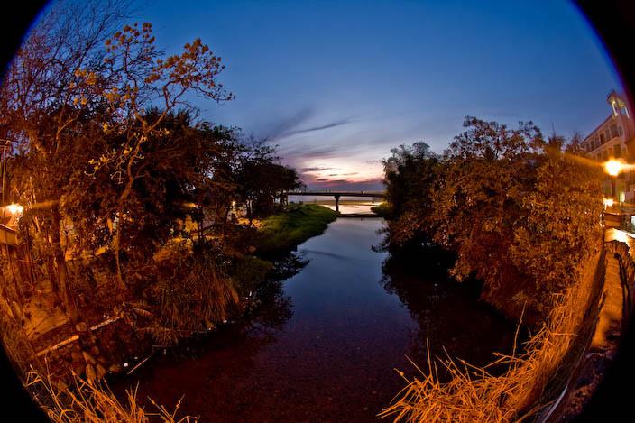River in a Fisheye