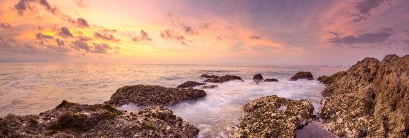Sunset at Conchas Chinas HDR